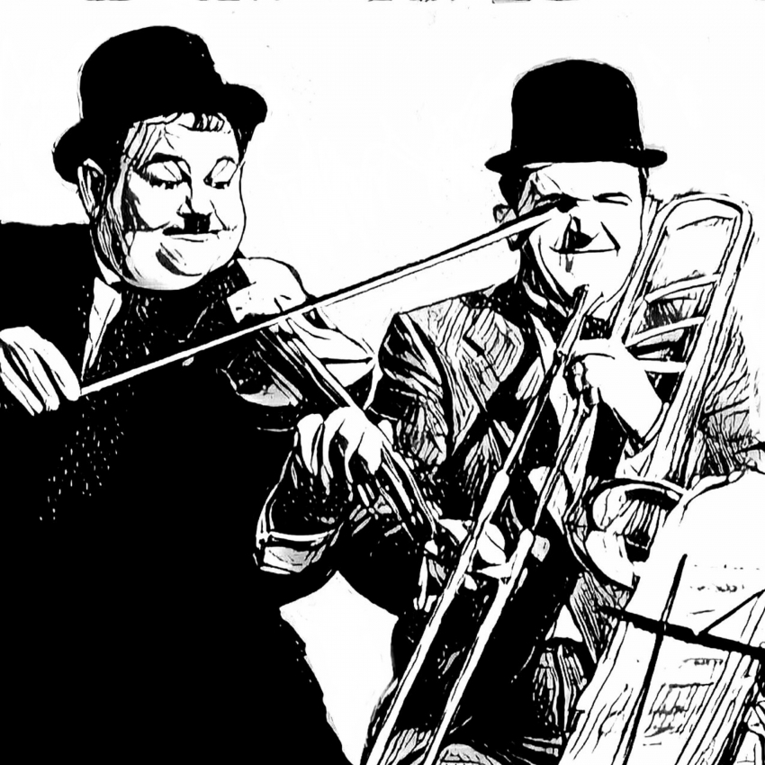 Laurel & Hardy by shahin